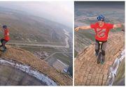 Un român a ajuns la BBC pentru acrobaţiile incredibile făcute la 250 de metri înălţime