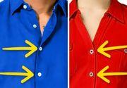 Tu stiai de ce nasturii de pe hainele femeilor sunt cusuti pe partea stanga si cei de pe imbracamintea barbatilor pe partea dreapta? Motivul este surprinzator