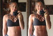 """Aceasta fotografie a fost realizata la o diferenta de 3 secunde! O antrenoare de fitness dezvaluie secretul """"trupului perfect"""""""