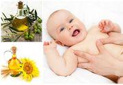 Folositi uleiul de masline pentru masajul bebelusilor? Uleiurile naturale produc afectiuni ale pielii micutilor, avertizeaza specialistii