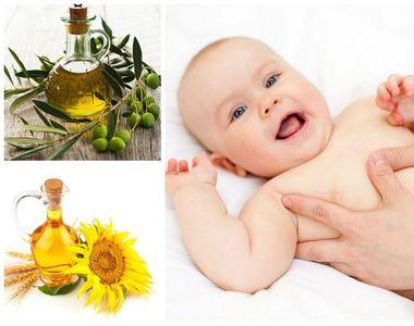 Folositi uleiul de masline pentru masajul bebelusilor? Uleiurile naturale produc...