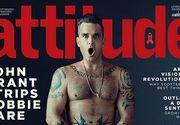 """Robbie Williams a recunoscut ca a fost """"dependent de sex"""". Cantaretul a pozat nud pentru coperta unei reviste dedicate homosexualilor"""