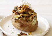 Cartofi deliciosi umpluti cu ciuperci. Reteta festiva pentru Sfantul Andrei, un deliciu de post