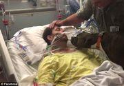 Video: Momentul emotionant in care un catel isi ia ramas-bun de la stapanul bolnav aflat pe patul de spital