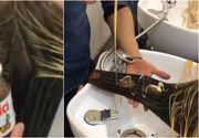 Cum arata femeia care si-a vopsit parul cu Nutella si lapte condensat! Rezultatul e spectaculos