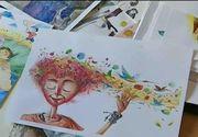 Si-a creat propria lume de basm din ilustratii colorate ajutat de fiul sau. Desenele lui sunt iesite din comun