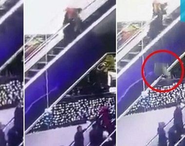 Tragedie intr-un mall. Un copil a murit dupa ce mama lui s-a impiedicat pe scarile...