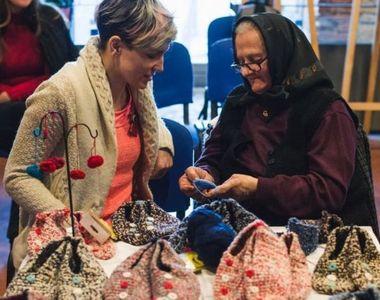 Povestea bunicii de 71 de ani din judetul Alba care croseteaza botosei de lana....