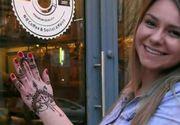 Celebrele tatuaje cu henna din India au ajuns si in Romania. O tanara din Cluj face adevarate opere de arta pe piele