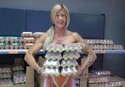 Femeia aceasta consuma nu mai putin de 30 de oua pe zi. Sustine ca acest obicei i-a schimbat complet trupul
