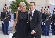 Imagini inedite de la nunta lui Emmanuel Macron cu Brigitte Trogneux. Tinuta foarte scurta prin care Prima Doamna a Frantei a atras toate privirile