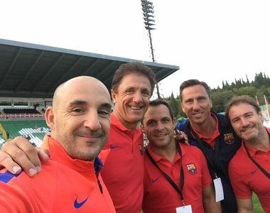 Gica Popescu s-a dat in spectacol in Bulgaria, alaturi de legendele Barcelonei