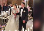 Lux si opulenta neimaintalnite la o nunta! Tort cu 15 etaje si rochii pe care le vezi doar in filme! Cine sunt cei care au facut un show total cu nunta