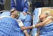 La 92 de ani batranul din imagine a avut o ultima dorinta inainte de moarte: aceea de a-si tine de mana sotia pentru ultima oara. E incredibil ce s-a intamplat cand si-au impreunat mainile