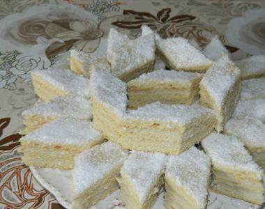 Prajitura Alba ca Zapada, o reteta simpla si delicioasa pentru noaptea de Anul Nou