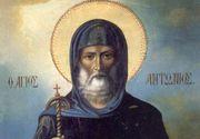 Sarbatoare pentru toti crestin-ortodocsii! Pe 17 ianuarie este praznuit intemeietorul vietii monahale!