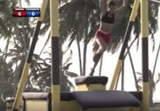 Miss Columbia, accident oribil la Exatlon! S-a prabusit in gol de la 4 metri pe acelasi traseu pe care Stefan s-a lovit la cap in semifinala | VIDEO