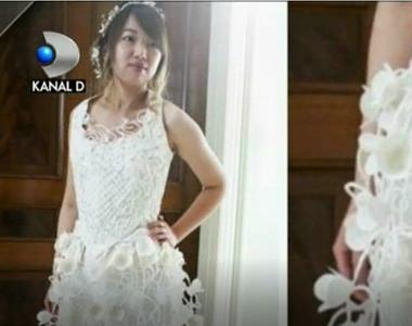 Rochia de mireasa poate fi superba, chiar daca nu este cusuta din materiale scumpe si...