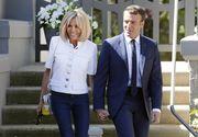 Cum arata Prima Doamna a Frantei in costum de baie! Imagini unice cu Brigitte Macron la 64 de ani