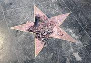 Steaua lui Donald Trump de pe Hollywood Walk of Fame a fost complet distrusa. Este a doua oara in ultimii doi ani cand are loc un astfel de incident