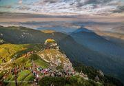 Imagini fabuloase surprinse de turisti pe Ceahlau! Cum arata piramida holografica FOTO