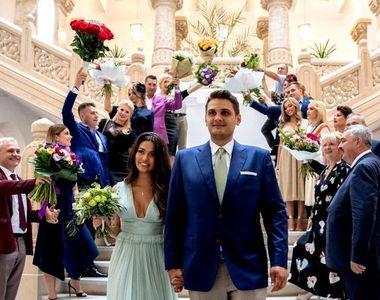 Primele imagini de la cununia civila a lui Dragnea Jr.! Ceremonia a fost oficiata de...