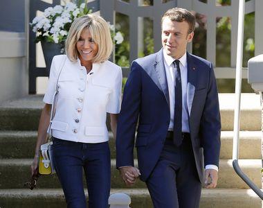 Brigitte Macron, prima doamna a Frantei, a stralucit la intalnirea de stat a sotului...