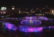 """Spectacolul """"Simfonia apei"""", de la fantanile din Unirii, va fi reluat cu un weekend mai devreme decat era planificat"""