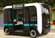 Prima masina din lume realizata cu o imprimanta 3D. Se conduce singura si poate transporta 12 persoane