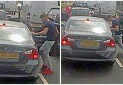 Imagini terifiante surprinse in trafic. Un sofer imparte pumni si palme unui alt conducator auto. De la ce a pornit tot scandalul