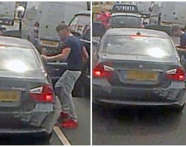 Imagini terifiante surprinse in trafic. Un sofer imparte pumni si palme unui alt...