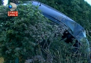 Accident spectaculos in Neamt! Un sofer a facut o manevra socanta, dupa ce o masina i-a aparut brusc in fata. Imagini incredibile!