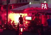 Euro 2016: a noua noapte violenta la Marsilia. Suporterii englezi s-au imbatat si s-au luat la bataie cu ultrasii francezi. Un bar a luat foc
