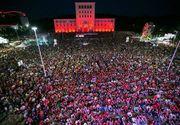 Nationala Romaniei a scos pana la urma lumea in strada, dar in Albania! La Tirana a fost sarbatoare toata noaptea