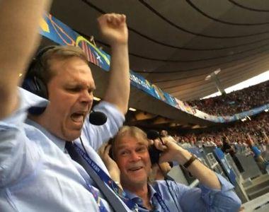 Reactia fabuloasa a comentatorului islandez dupa victoria cu Anglia a devenit virala....