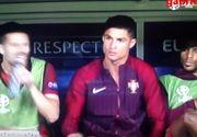Momente amuzante de la Euro 2016. Cristiano Ronaldo si-a bruscat antrenorul si a lovit un coleg pe banca de rezerve