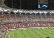 """Lovitura umilitoare pentru Steaua la meciul cu Manchester City. A aparut un mesaj urias cu """"Doar Dinamo Bucureşti"""" pe toată tribuna"""