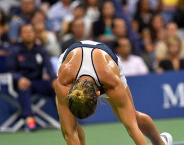 Simona Halep, obligata sa abandoneze meciul, dupa ce a fost lovita cu mingea in...