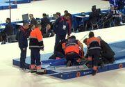 Gimnastul Laurentiu Nistor s-a accidentat groaznic la spate - A cazut in timpul exercitiului de la Europenele de Gimnastica - A ramas nemiscat pe saltea