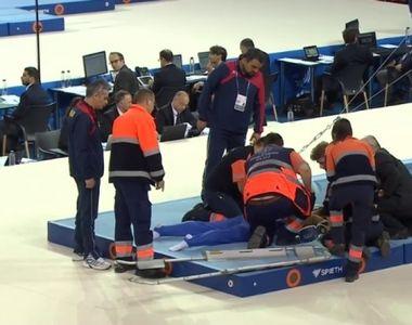 Gimnastul Laurentiu Nistor s-a accidentat groaznic la spate - A cazut in timpul...