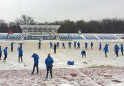 Fotbalul romanesc, dat peste cap de vreme! Partida CSU Craiova - Dinamo, din Cupa, a fost amanata, ca si prima etapa din play-off si play-out