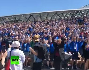 Vikingii au invadat Moscova! Galeria islandeza, show total la Cupa Mondiala 2018