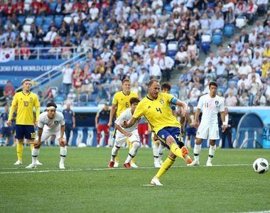 Suedia a invins Coreea de Sud, scor 1-0, printr-un penalti acordat dupa consultarea VAR