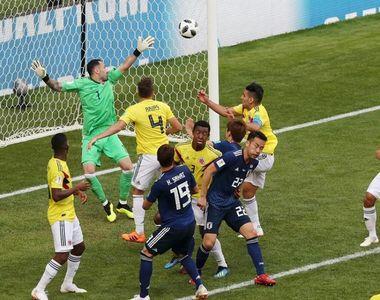 Japonia a invins Columbia, scor 2-1, la CM. Columbienii au jucat in inferioritate...