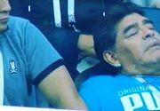Ingrijorator! Celebrul jucator argentinian Diego Armando Maradona a fost surprins in ipostaze ciudate la meciul de aseara al nationalei sudamericanilor