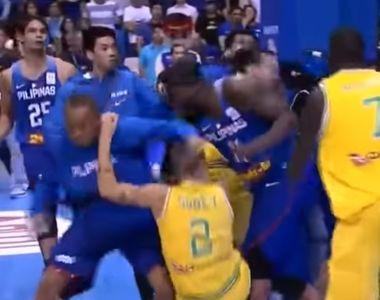 Video! Bataie crunta intre doua echipe la un meci de baschet