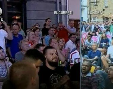 De la extaz, la agonie, asa au trait suporterii englezi din Bucuresti meciul de aseara...