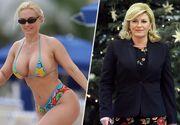 Presedinta Croatiei in costum de baie, cea mai mare pacaleala inainte de finala Cupei Mondiale! Kolinda Grabar-Kitarovic a fost confundata cu o celebra actrita!