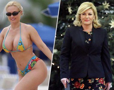 Presedinta Croatiei in costum de baie, cea mai mare pacaleala inainte de finala Cupei...