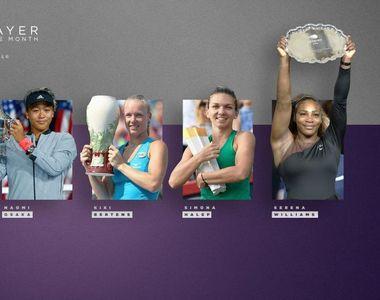 Simona Halep este nominalizata de WTA pentru titlul de jucatoarea lunii august